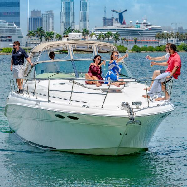 Spoil yourself aboard the Recess Boat Cruise in Miami